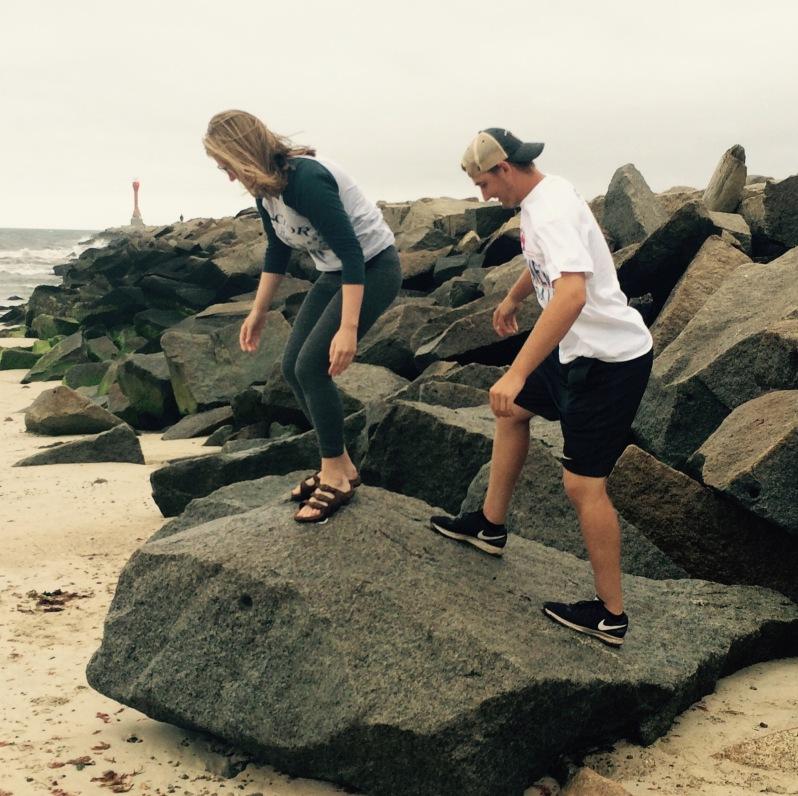 Climbing Rocks - Scusset Beach