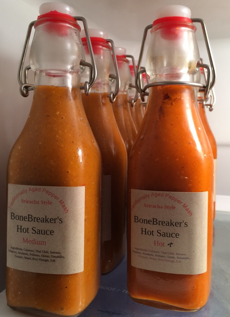hot sauce - labelled