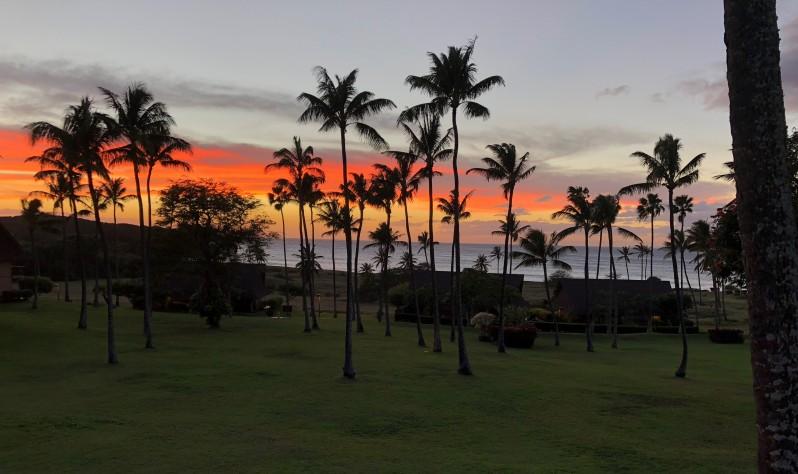 Molokai - Sunset from lanai
